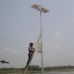 ระบบแสงสว่างไฟถนนแบบ Solar Cell