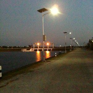 ติดตั้งระบบแสงสว่างไฟถนนแบบ Solar Cell